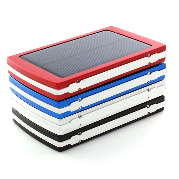 10000mAh Dual USB Solar Power Panel External Battery Charger