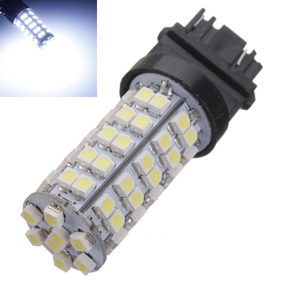T25 68-SMD Pure White 3157 Brake Tail Stop Light LED Bulb