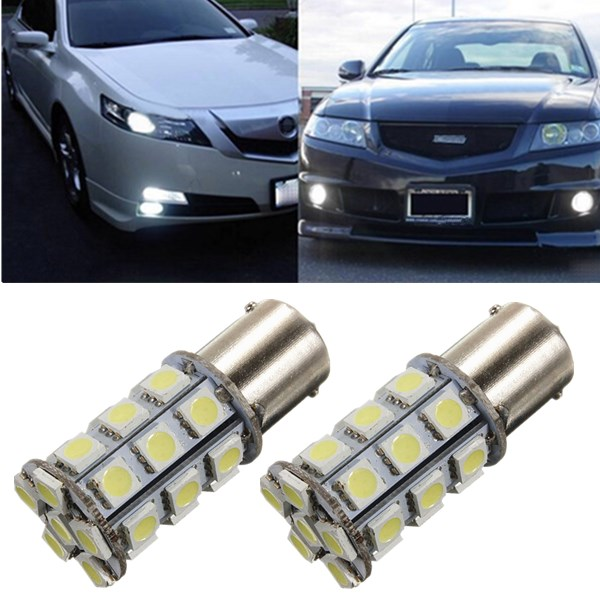 1156 BA15S P21W 27 SMD 5050 LED RV Marine Light Bulb White 12V