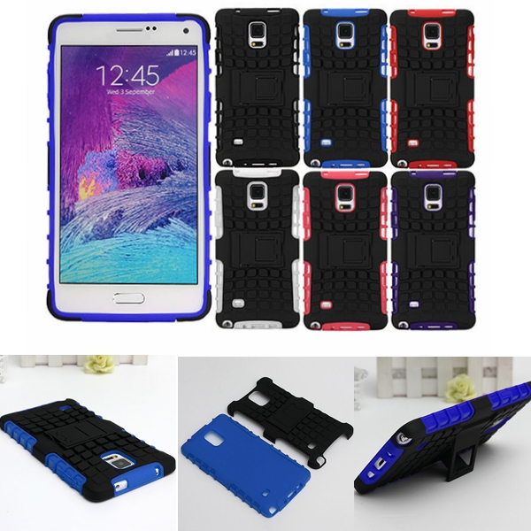 Armor Hybrid Back Cover Case Stand For Samsung Galaxy Note 4 N9100