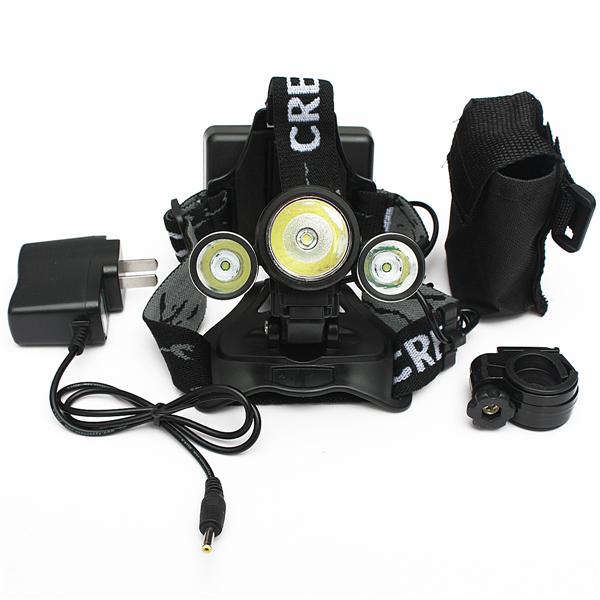 1 XML T6 2XP LED Cycling Headlamp Bike Rechargeable Headlight