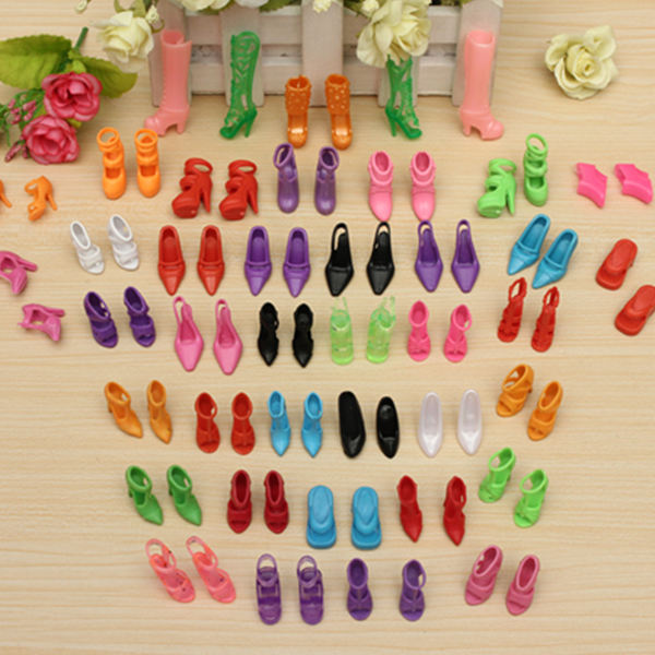 40 Pairs Different High Heel Shoes Boots Accessories For Barbie Doll