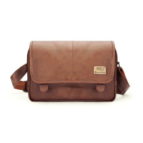 Mens Fashion Soft Artificial Leather Messenger Travel Shoulder Bag