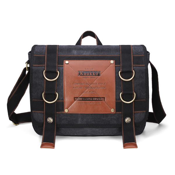 Mens Retro Canvas Travel Shoulder Bag School Messenger Bags