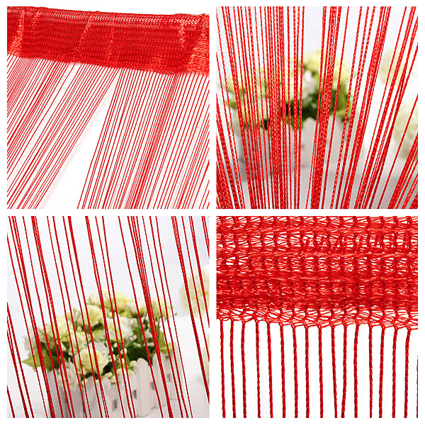 100cm*200cm String Curtain Fringe Panel Room Divider Wedding Drapery