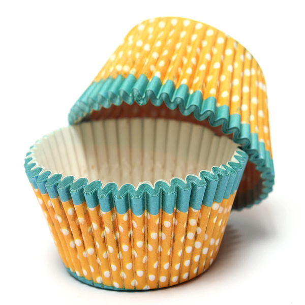 100Pcs Daisy Flower Print Muffin Cupcake Cup Cake Baking Tool