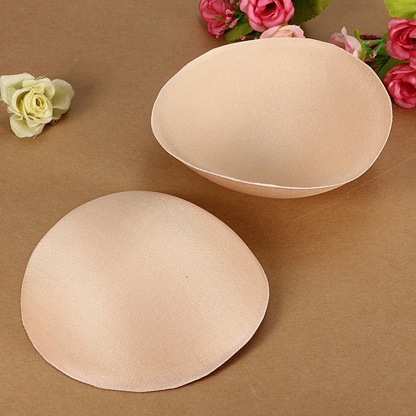 1 Pair Foam Top Push Up Bra Pads Insert Breast Enhancer Bikini Pad