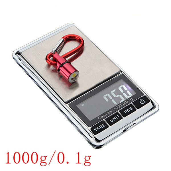 1000g x 0.1g LCD Mini Digital Jewelry Pocket GRAM Scale