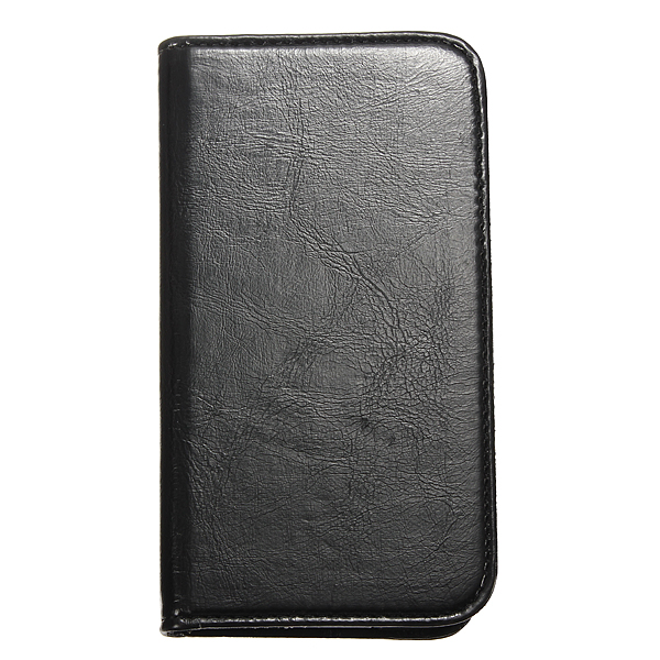 Black Flip PU Leather Case Cover Stand For Samsung Galaxy S5 i9600