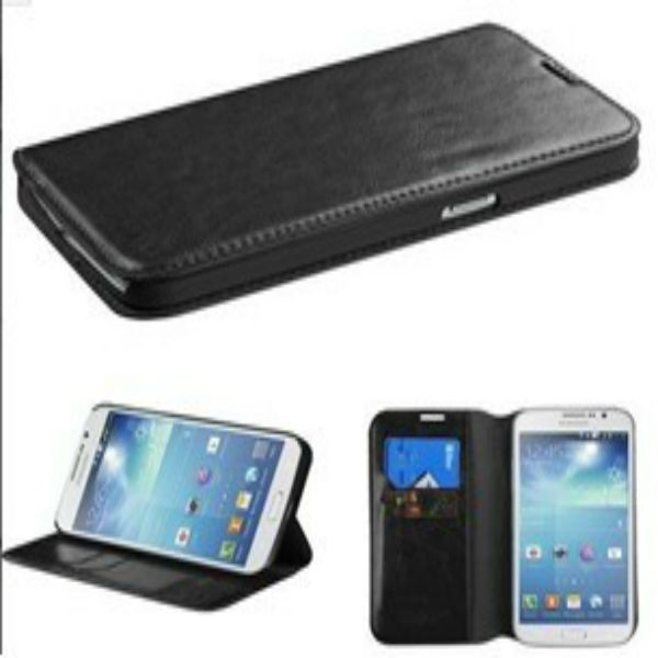 Black Flip PU Leather Hard Back Case Cover Skin Stand For LG G2