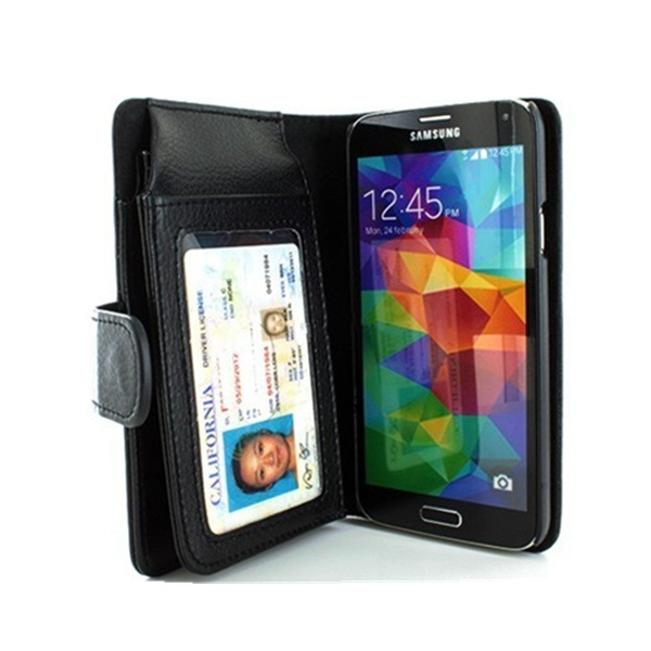 Bag Credit Card Holder Wallet Case Cover For Samsung Galaxy S5 i9600