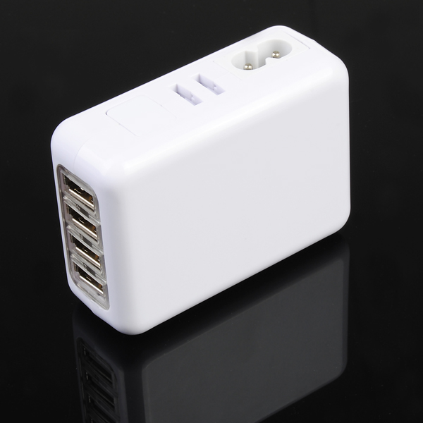 2A US/AU/EU/UK 4 Port USB Portable Wall Charger AC Adapter