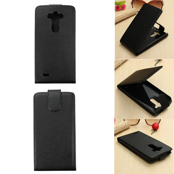 Black Magnetic Leather Hard Cover Case For LG Optimus G3 D850