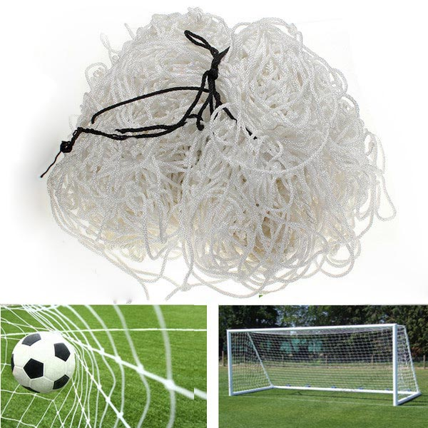 Football Net 6x4ft Soccer Goal Post Straight Flat Back Post Net