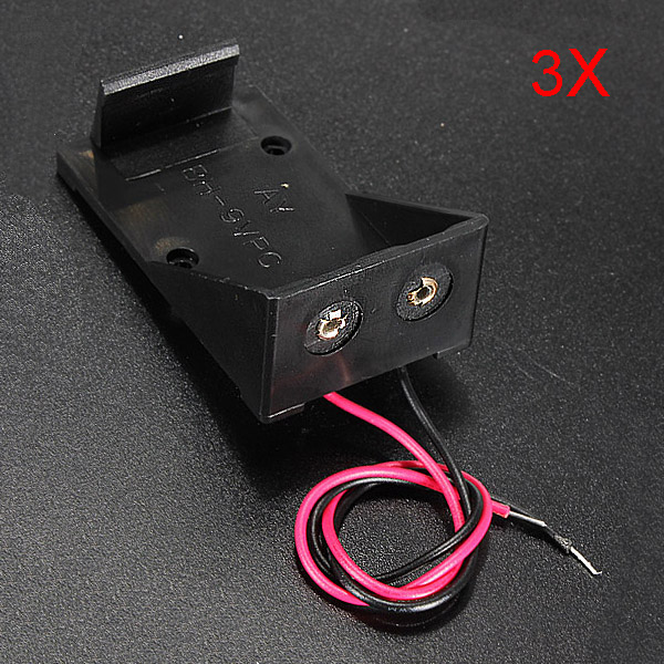 3X 9V BATTERY DC POWER ENCLOSURE HOLDER CASE