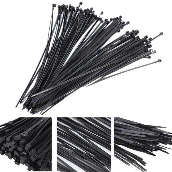100Pcs Plastic Nylon Cable Ties Zip Wire Wrap Strap