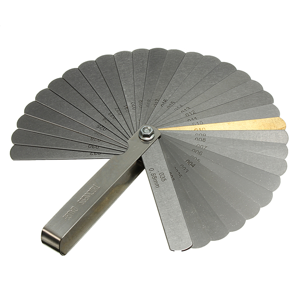 0.038 to 0.889mm 32 Blade Feeler Gauge Thickness Gap Metric Gauge