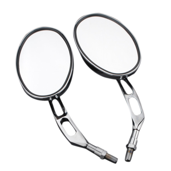 10mm Chrome Motorcyle Round Rear View Mirrors