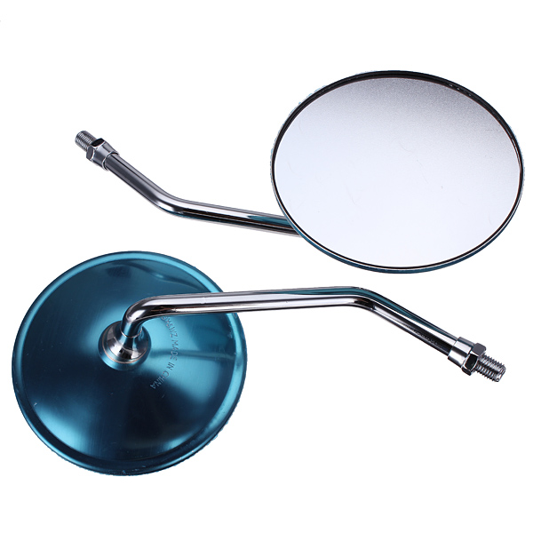 10MM Round Chrome Rear View Mirrors For Harley Honda