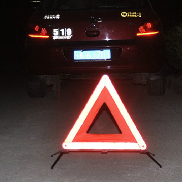 Road Emergency Foldable Reflective Triangle Warning Signs