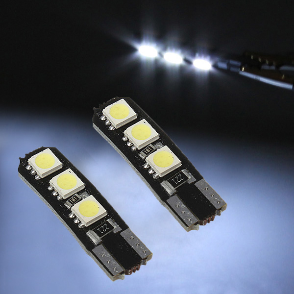 T10 Tail Side Wedge Light Lamp Bulb 194 168 W5W 5050 LED SMD White