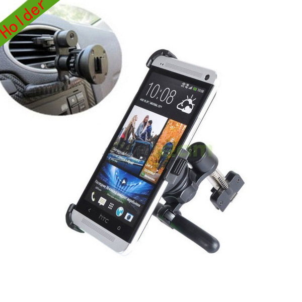 360 Rotatable Car Air Vent Mount Holder Cradle for HTC One M7