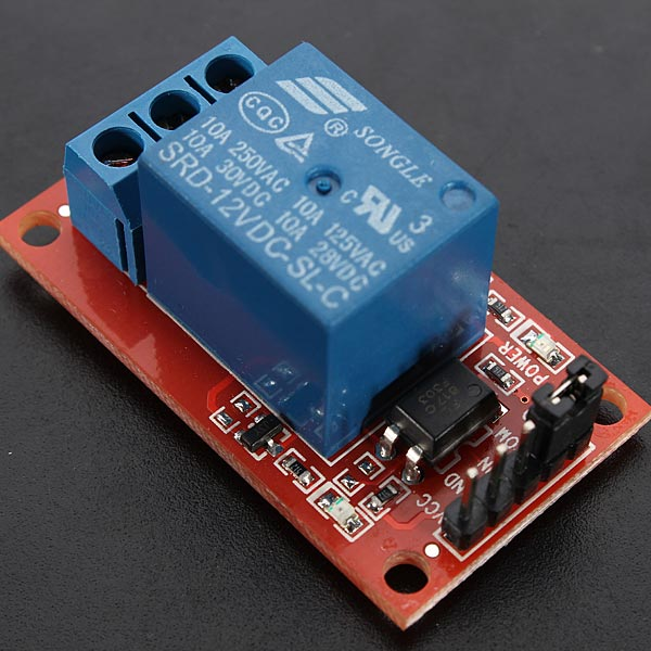 1 Channel 12V H / L Level Trigger Optocoupler Relay Module For Arduino