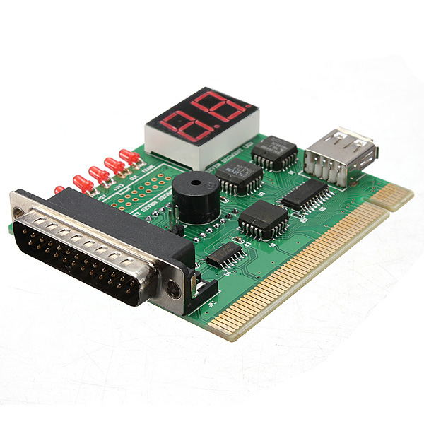 2 Digit USB PCI LPT Motherboard Diagnostic Analyzer Test Card For Laptop PC And Desktop