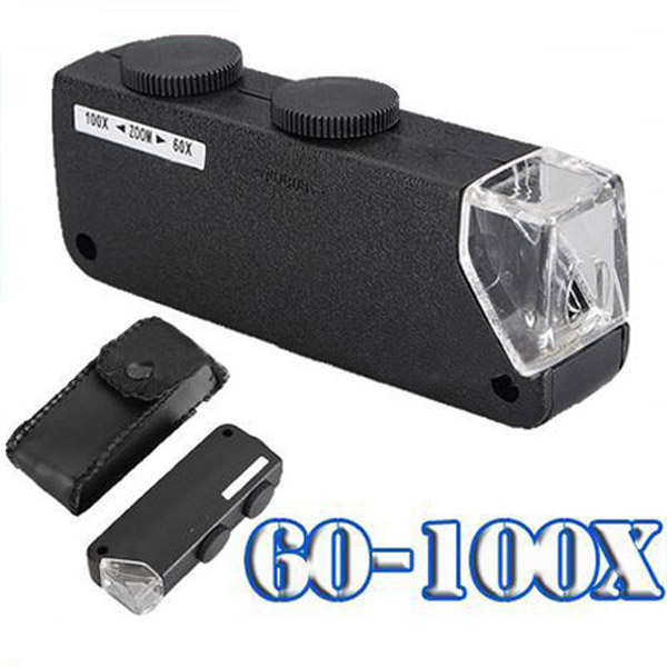 60X-100X Portable Lighted Microscope Magnifier