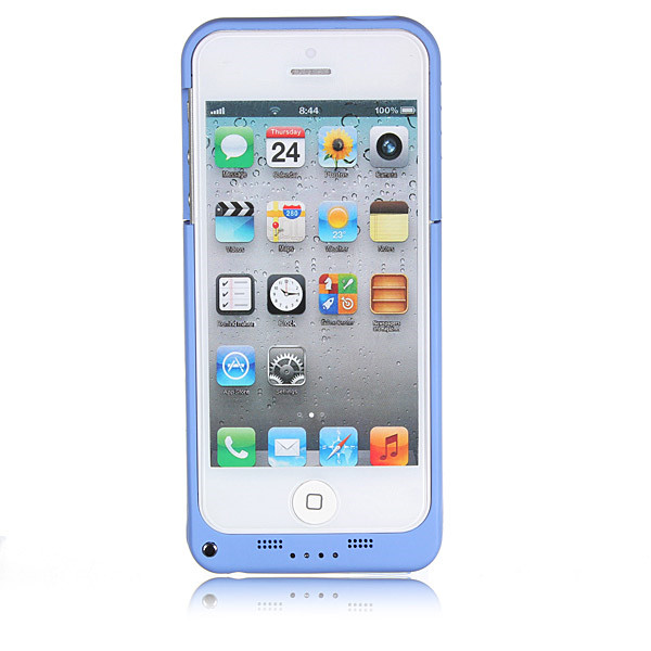 2200mAh External Battery Backup Charging Case With Stand For iPhone 5