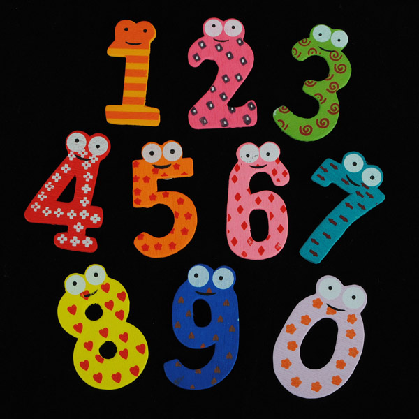 10 Number Wooden Fridge Magnet Education Kid Toy