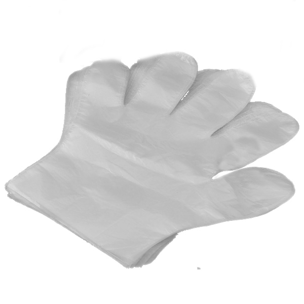 100Pcs Large Disposable Sanitary Plastic Glove