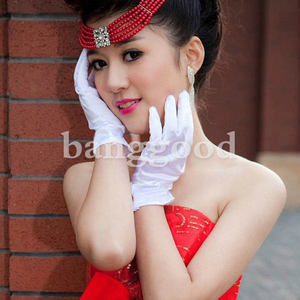 Ladies Sexy Prom Costume Party Dress Bride Wedding Gloves
