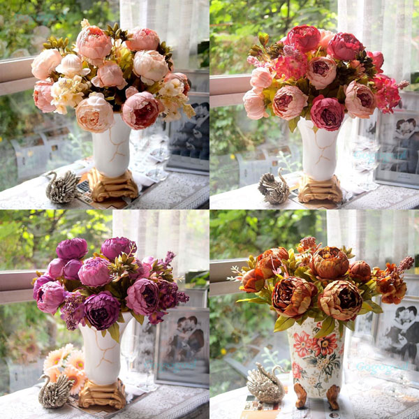 Artificial Peony Bouquet Artificial Silk Flowers Home Wedding Decor