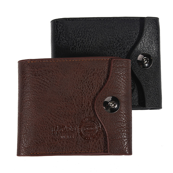 Business New Causal Men PU Leather Purse Card Holder Wallet
