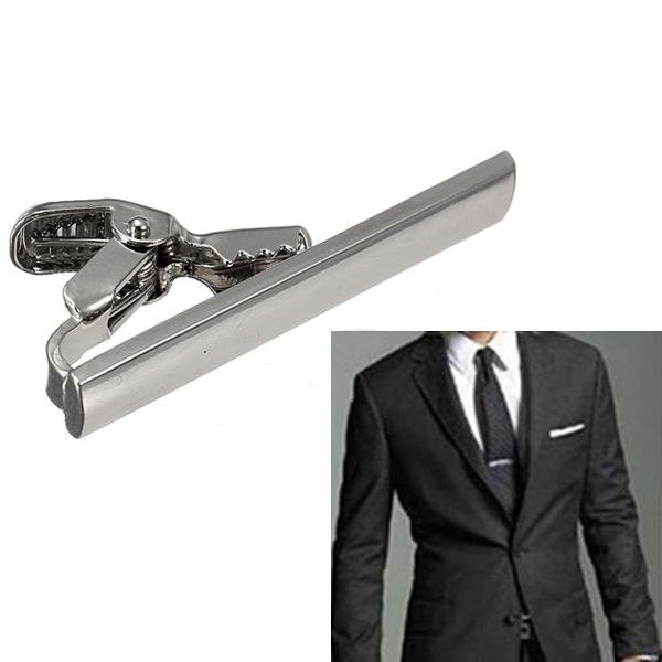 Men's Pratical Silver Stainless Steel Necktie Tie Clip