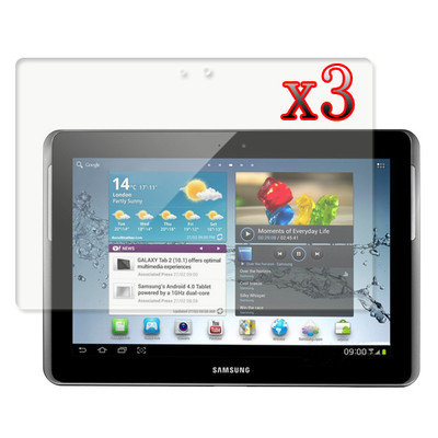 3x Clear Screen Guard Protector Film For Samsung Galaxy Tab 2 10.1