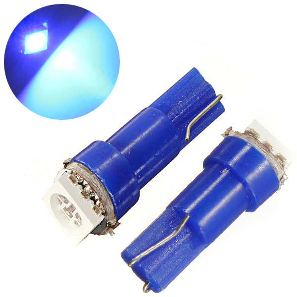 1 x Blue 37 58 70 73 74 T5 Dashboard Gauge LED Wedge Bulb Light DC 12V