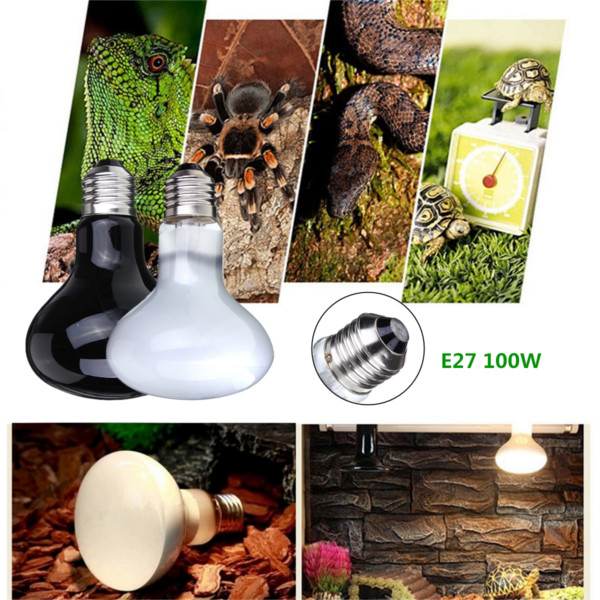 100W Reptile Turtle Chick Pet Brooder Basking Heat UVA Light Bulb