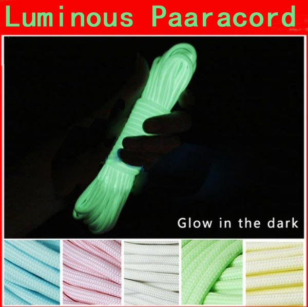 100FT 30m Multifunction Nylon Paracord Parachute Cord Luminous Glow