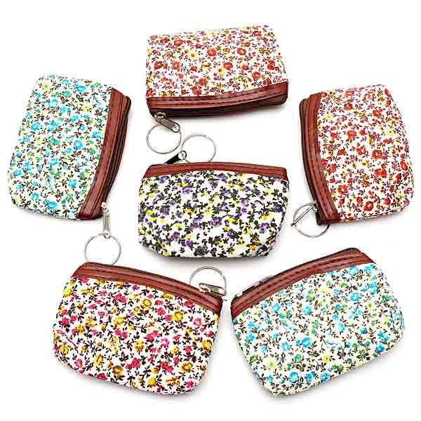 Women Floral Canvas Wallet Coin Purse