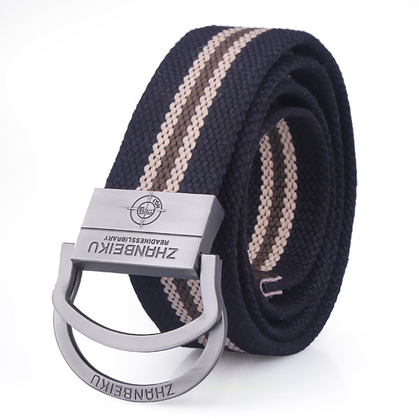 Mens Canvas Stainless Steel Buckle Belts