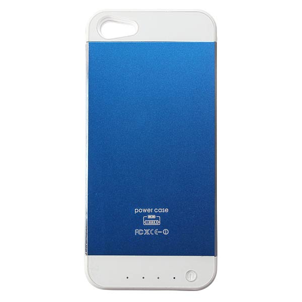 3500mAh Luxury Design Brushed Metal Battery Case Cover For iPhone 5 5S