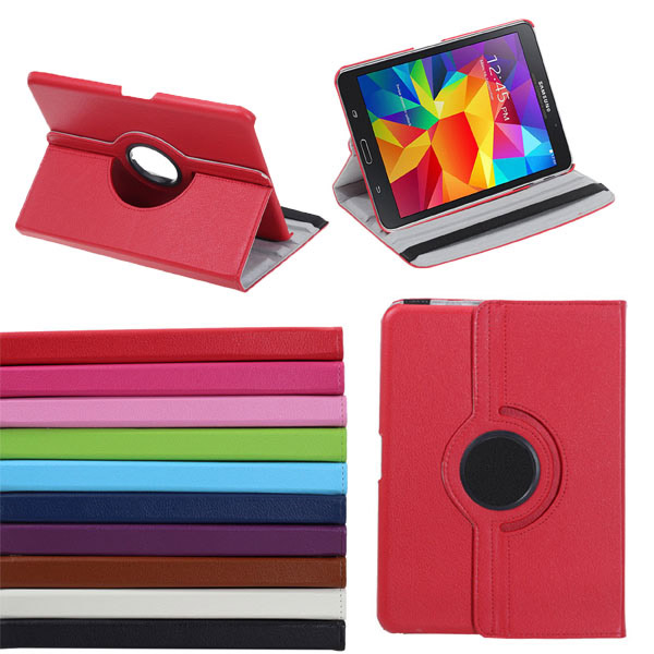 360 Rotating PU Leather Case Stand For Samsung Galaxy Tab 4 T330