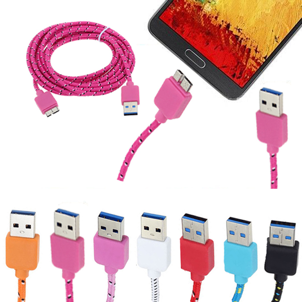10 FT Braided Micro USB Data Sync Cable For Samsung Galaxy S5 Note 3