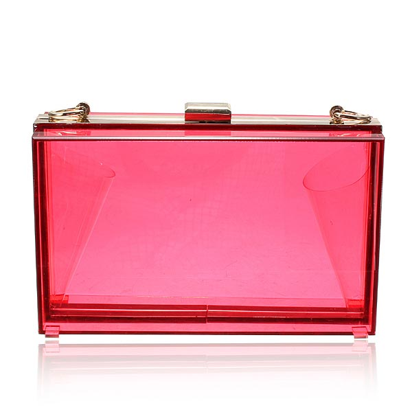 Women Transparent Acrylic Perspex Clutch handbag