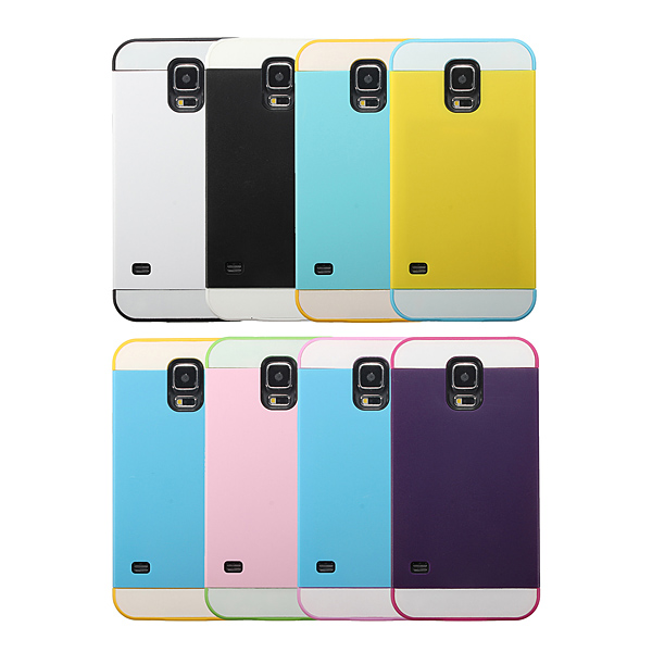 Hybrid 2 In 1 TPU PC Silicone Case For Samsung Galaxy S5 i9600