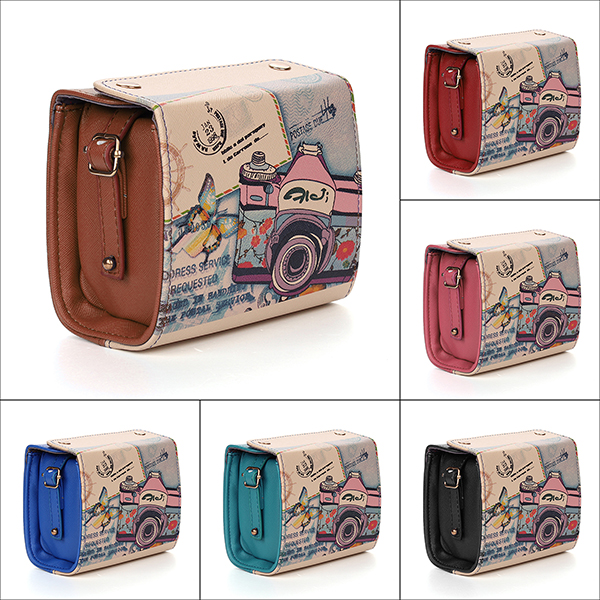 Women Shoulder Bags Retro Graffiti Camera Handbags Messenger Crossbody Bags