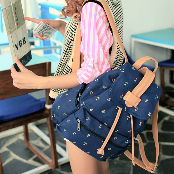 Canvas Blue Backpack