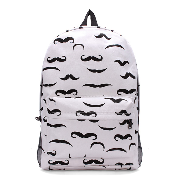 Unisex Canvas Printed Backpack